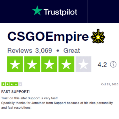 csgoempire trustpilot score