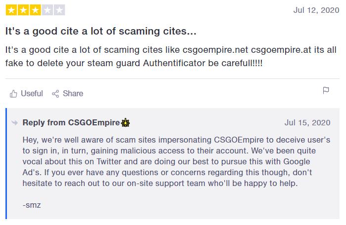 scam sites csgoempire